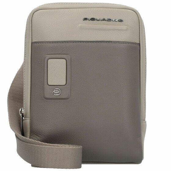 Piquadro akron sac bandouliére cuir 17 cm grey